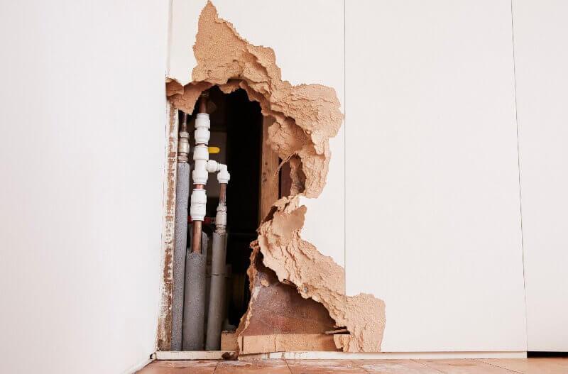 casa con filtracion de agua